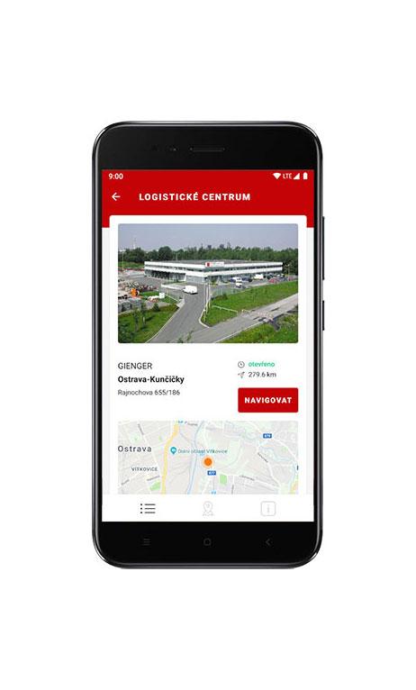 Mobilní aplikace Gienger GCSKUPINA