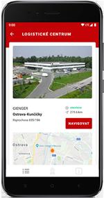 mobilní aplikace gienger